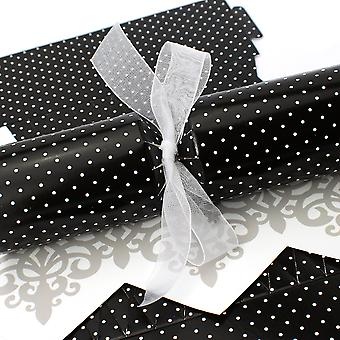 Single Large Monochrome Mini Polka Cracker - Make & Fill Your Own Kit