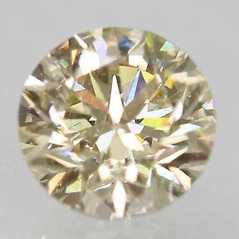 Cert 0.79 Ct Fancy Amarillo VS1 Ronda Brillante Diamante Natural Mejorado 5.78m 3EX
