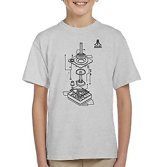 Atari Remote Control Schematic Black Kid's T-Shirt