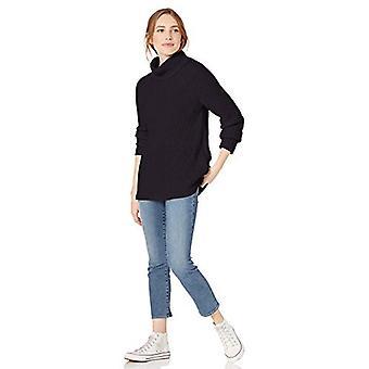 Brand - Goodthreads Women's Cotton Shaker Stitch Turtleneck Sweater, N...