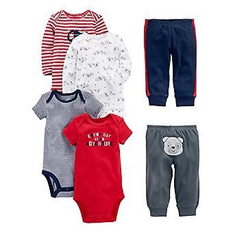 Simple Joys de Carter's Baby Boys 6-Piece Little Character Set, Red/ Navy Bear...