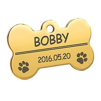 Anti-lost Personalized Dog Cat Engraved Pendant  Name Id Collar Tag