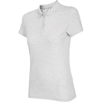 4F NOSH4 TSD007 Biały Melanż NOSH4TSD007BIAYMELAN universal todos os anos femininos t-shirt