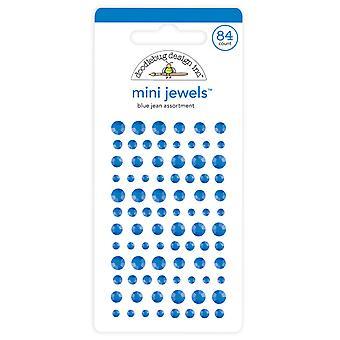 Doodlebug Design Sininen Jean Mini Jalokivet (84kpl) (6721)