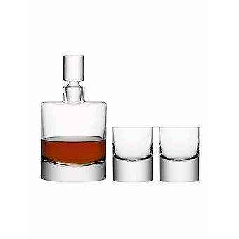 LSA International Boris Whisky Set - Decanter & Tumblers