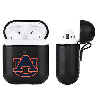 Auburn Tigers NCAA Fan Brander Zwart Lederen AirPod Case