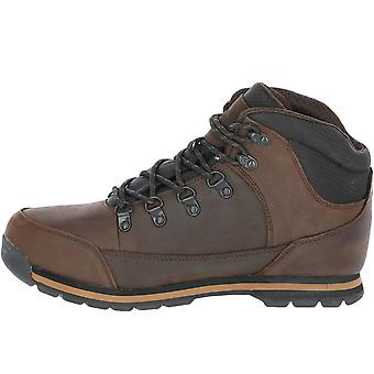 Trespass Mens Jericho Leather Waterproof Walking Hiking Boots - Marrom Escuro