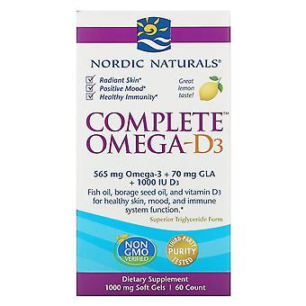 Nordic Naturals, Complete Omega-D3, Citron, 1000 mg, 60 Gels mous