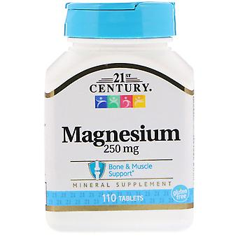 21e eeuw, magnesium, 250 mg, 110 tabletten