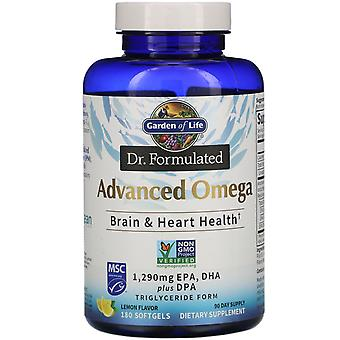 Garden of Life, Dr. Formulated, Advanced Omega, Lemon, 180 Softgels