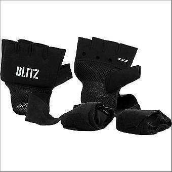 Blitz sports gel hand wraps - black