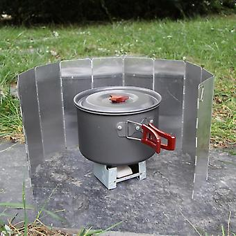 Fold Camping Cooker Gas Stove, Wind Shield Screen Foldable Outdoor