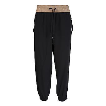 Moncler 2a70400c0377999 Women's Black Acetate Pants