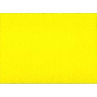 Folha de feltro acrilica amarela A4 de 23x29,5cm para artesanato