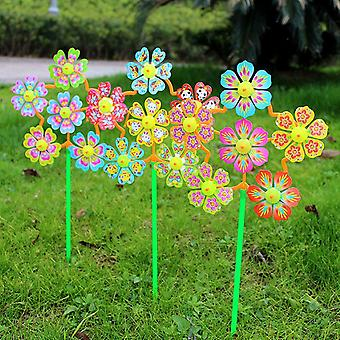 Flower Shape Wind Spinner til Home Garden Yard Decor