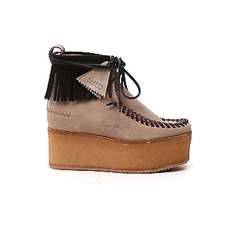 Palm Angels Pwid004f20lea0016010 Femmes's Brown Suede Ankle Boots