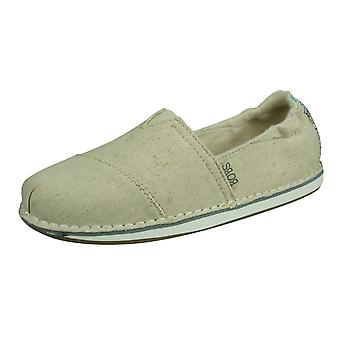 Skechers BOBS Chill-Cross Paths Womens Slip On Shoes - Bege
