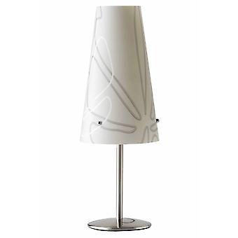 Lámpara de mesa BRILLIANT Isi Gris 1x C35, E14, 40W, adecuado para lámparas de velas (no incluidas) Escala de A++ a E