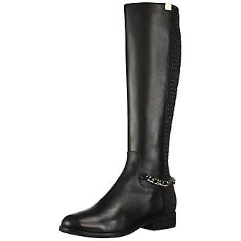Cole Haan Women's Shoes Idina Stretch Boot Leather Round Toe Knee High Fashion Boots