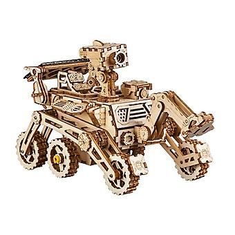 Robotime Moveable Solar Energy Powered Toy - 3d Puzzle Diy Laser Cutting Wooden Building Gifts Toy For Children