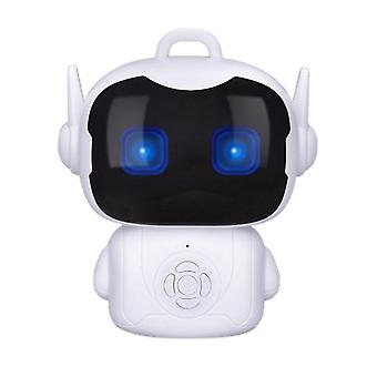 Children Intelligent Robot Early Education Toys For Smart Portable Teacher Toy Dialogue Touch Sensor Voice Controlled Robot (white)