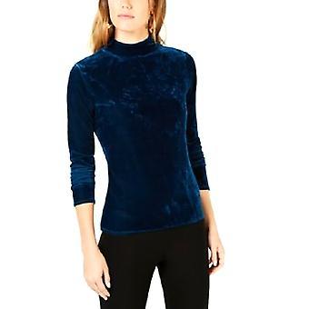 Bar III   Velvet Font Mock-Neck Sweater