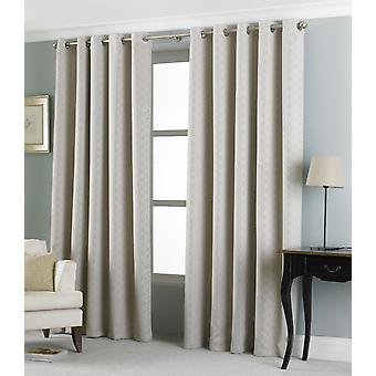 Country Club Eden Jacquard Curtains 66 x 90, Oatmeal