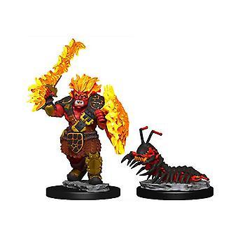 WizKids Wardlings Miniaturen Fire Orc & Fire Centipede (6 eenheden)
