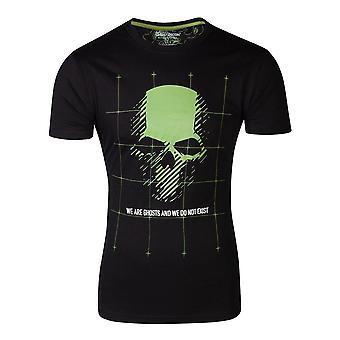 Tom Clancys Ghost Recon Skull Latitude T-Shirt Male Large Black (TS752106GHR-L)