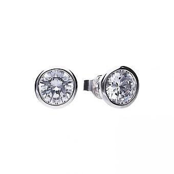 Boucles d'oreilles Diamonfire Silver White Zirconia Solitaire E5621