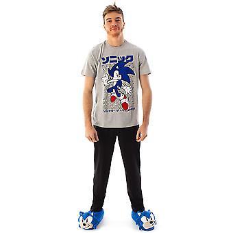 Sonic The Hedgehog Men's Pyjamas T-shirt & Lounge Pant Set