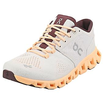On Running Cloud X Womens Running Trainers in Silver