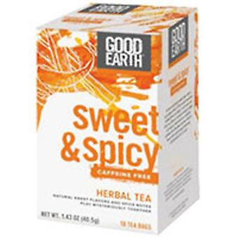Good Earth Teas Sweet and Spicy Caffeine Free Herbal Tea, 18 Tea Bags
