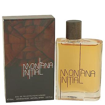 Montana Initial Eau De Toilette Spray By Montana 2.5 oz Eau De Toilette Spray
