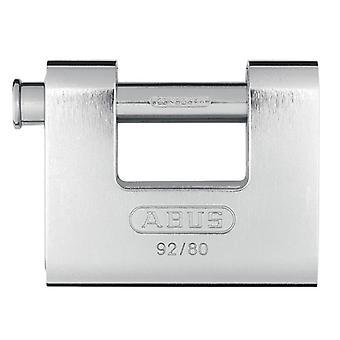 ABUS 92/80mm monoblock messinki runko suljin riippulukko näppäiminen 8522 ABUKA20060