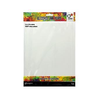 Tim Holtz Alkoholi Muste Valkoinen Yupo Paper 86lb 5/Pkg-