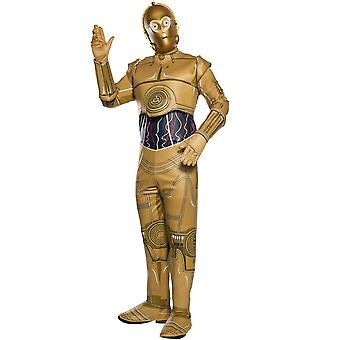Disney Halloween Fancy Dress Costume Adult Unisex - Star Wars - C-3p0