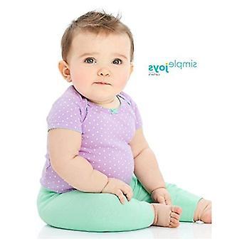 Simple Joys af Carter's Baby Girls 4-Pack Pant, Pink/Grey, 3-6 måneder