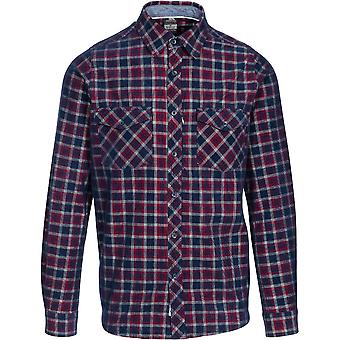 Trespass Mens Byworthtown Yarn Dyed Check Chemise à manches longues