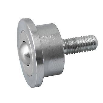 8mm ball metall overføring lagerethet hjul transportbånd rulle M5 stammen