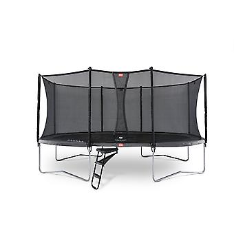 BERG Grand Favorit Regular 520 Trampoline + turva verkko Comfort harmaa