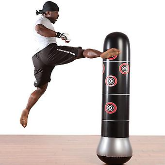 Boxing Punching Bag Inflatable Free-stand Tumbler Thai Training Pressure Relief