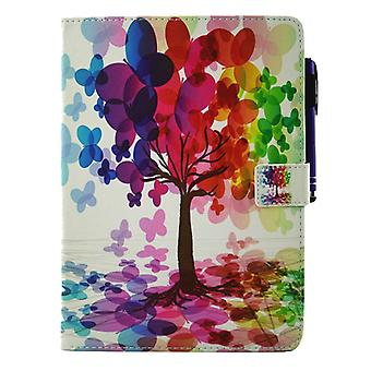 For iPad Pro 9.7 inch Butterfly Tree Pattern Horizontal Flip Leather Case with Holder & Wallet & Card Slots & Sleep / Wake-up Function & Pen Slot