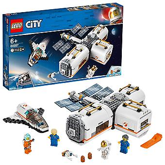 Lego 60227 city lunar space station, spaceship adventures toys for kids inspired by nasa, mars exped