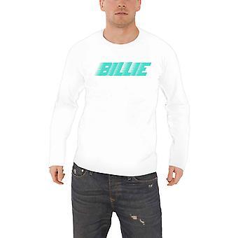 بيلي إيليش تي شيرت المتسابق الشعار الجديد الرسمية الأبيض الأكمام الطويلة