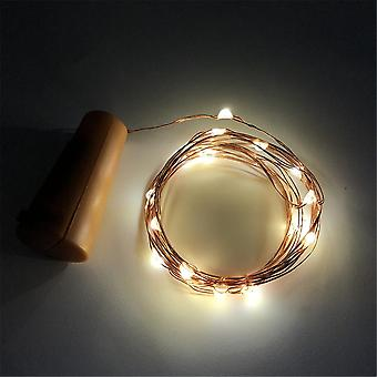 1m 2m Copper Wire Fairy Garland Bottle Stopper For Glass Craft Led String Light