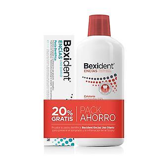 Pack Bexident Gums Adjuvant Treatment Mouthwash + Toothpaste 500 ml + 75 ml