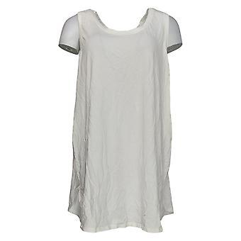 Anyone Women's Plus Top Cozy Knit Side Split Tank Blanc A306950
