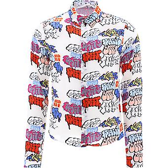 Off-white Omga147r21fab0018400 Männer's Multicolor Viskose Shirt
