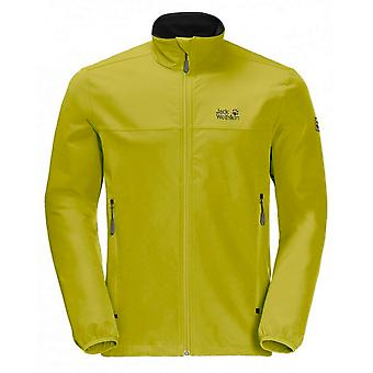 Jack Wolfskin Mens Crestview Zip Up Casual Jacket Lime 1305471 4038